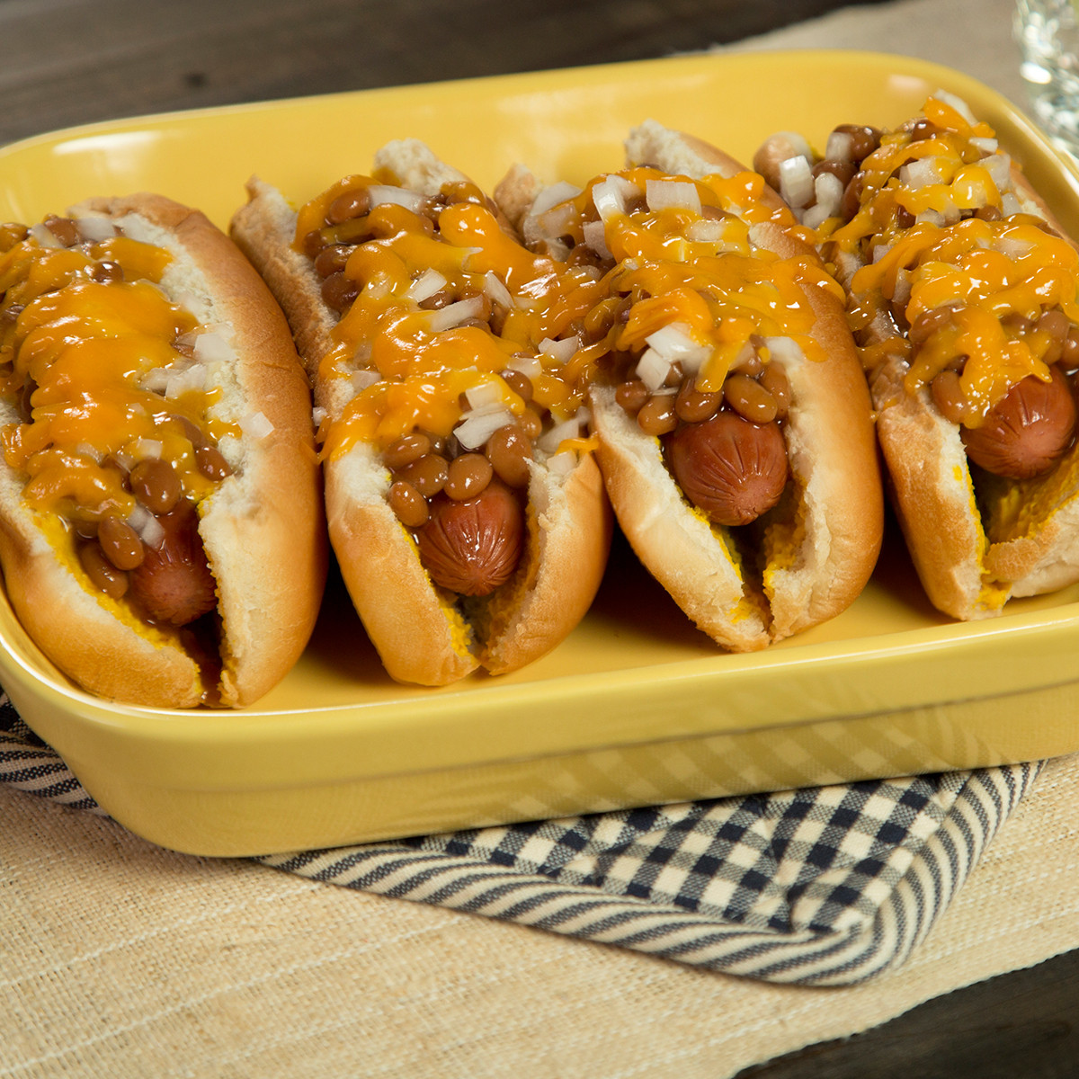 Hot Dogs And Beans  Baked Bean & Cheese Baked Hot Dogs Recipe