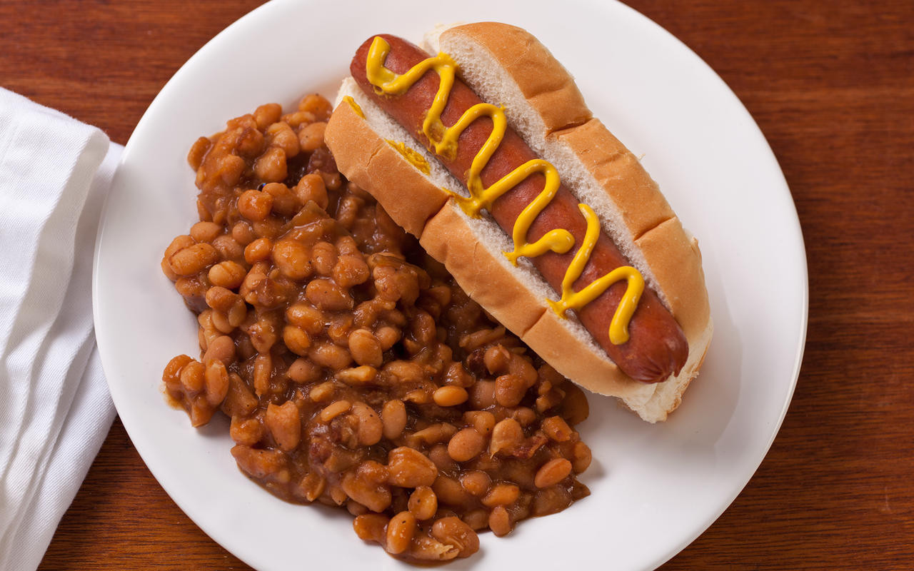 Hot Dogs And Beans  Easy Slow Cooker Baked Beans Recipe Chowhound