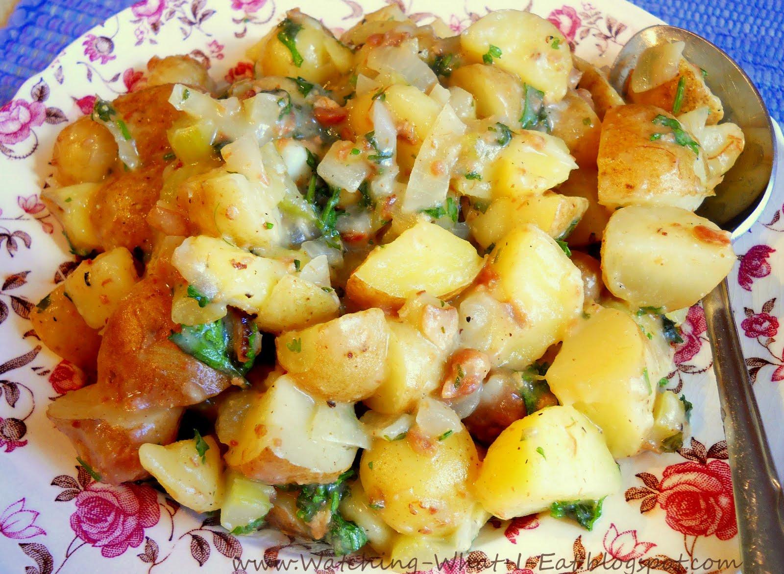 Hot German Potato Salad  Watching What I Eat Hot German Potato Salad Grandma Bunni s