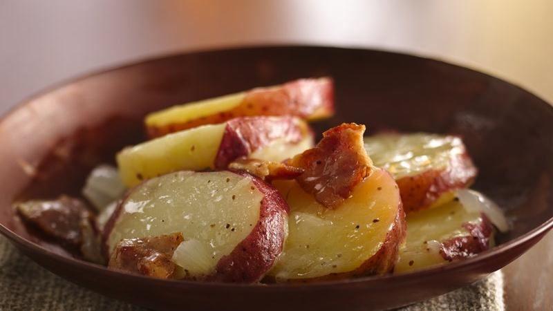 Hot German Potato Salad  Hot German Potato Salad recipe from Betty Crocker
