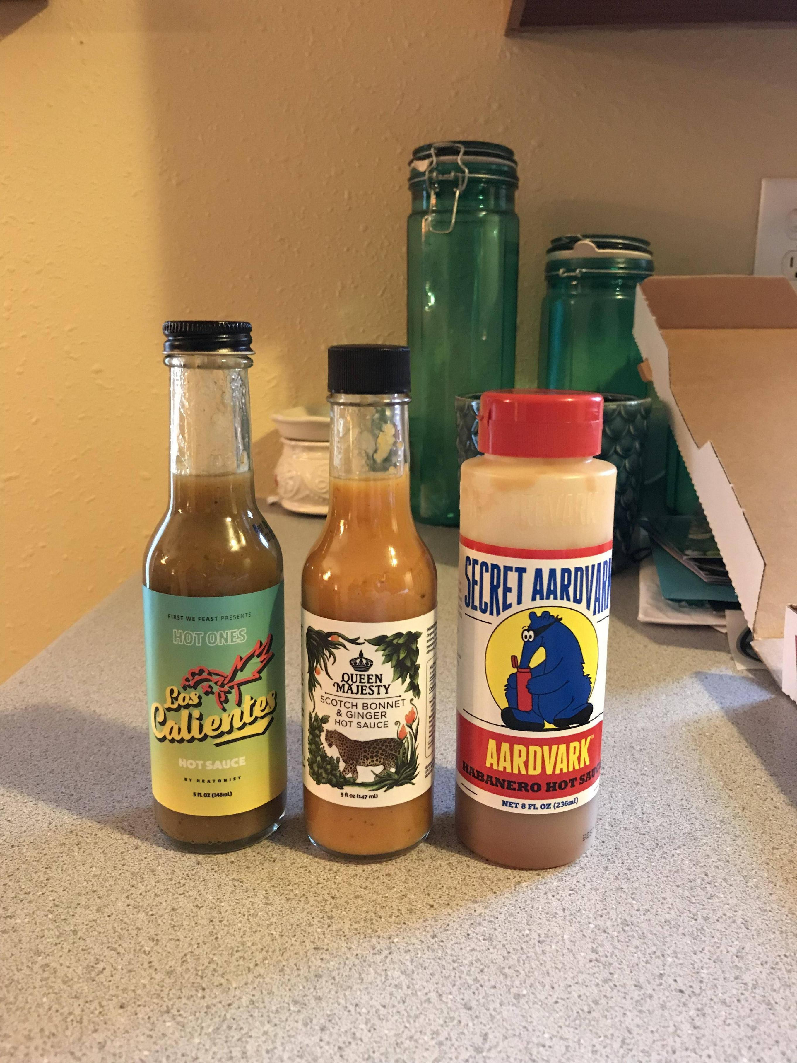 Hot Ones Hot Sauces  Ordered three new sauces after discovering Hot es last