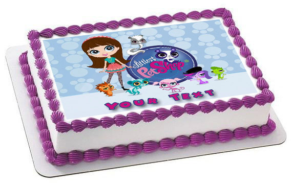 How Big Is A 1/4 Sheet Cake  Littlest Pet Shop Edible Birthday Cake Topper
