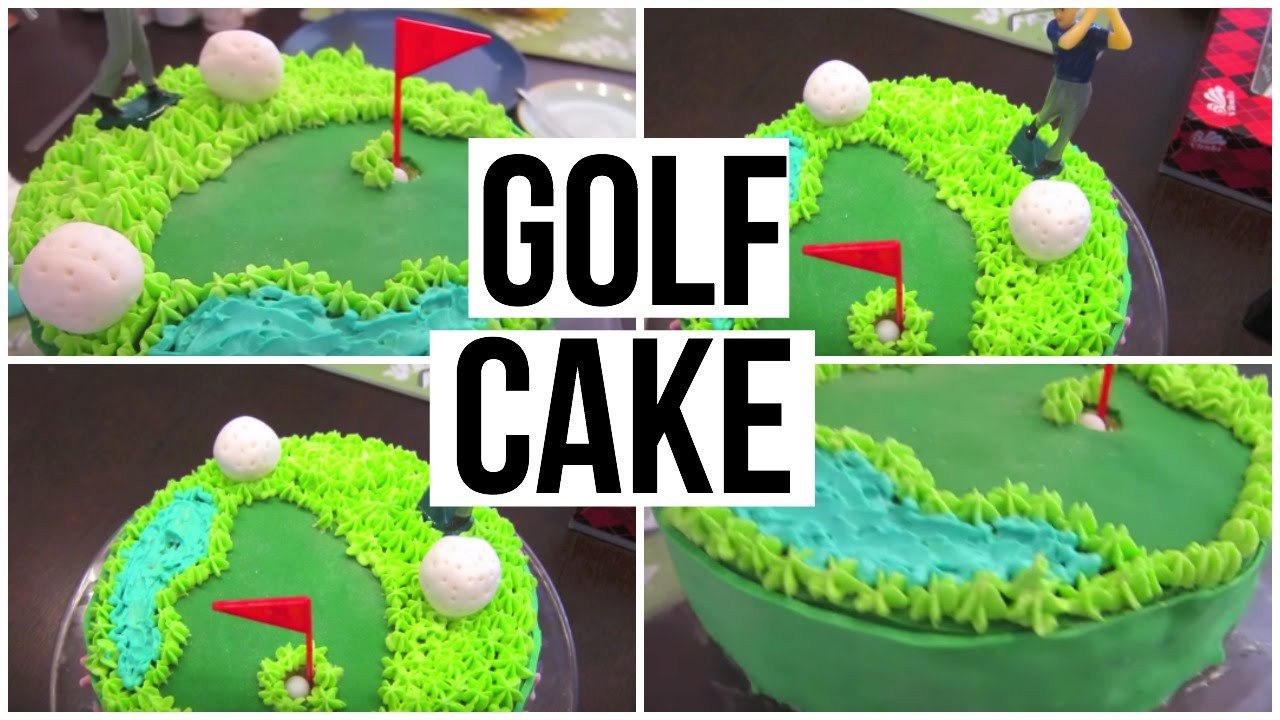 How Big Is A 1/4 Sheet Cake  Golf cake tutorial