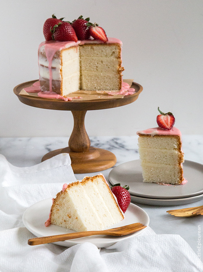 How Big Is A 1/4 Sheet Cake  Strawberry Vanilla Cake The Little Epicurean