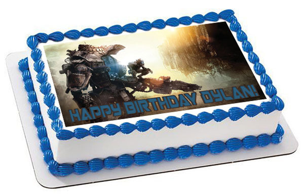 How Big Is A 1/4 Sheet Cake  Titanfall Edible Birthday Cake Topper