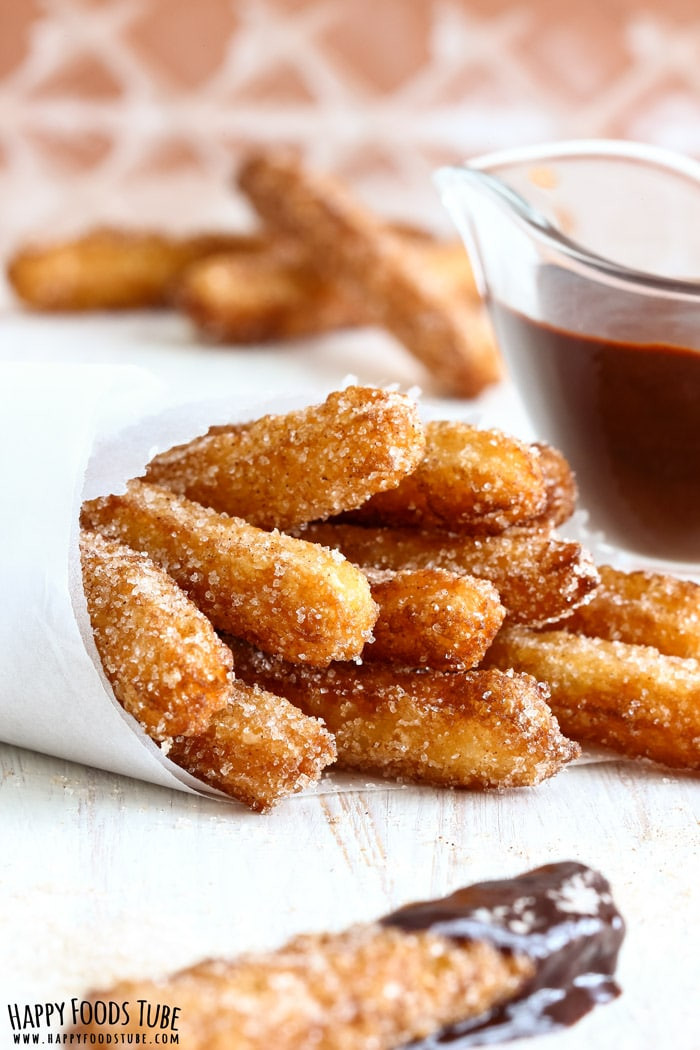 How Do You Say Dessert In Spanish  Homemade Churros Traditional Spanish Dessert Happy