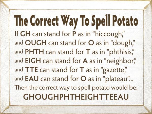 How Do You Spell Potato  How to spell potato pgbari x fc2
