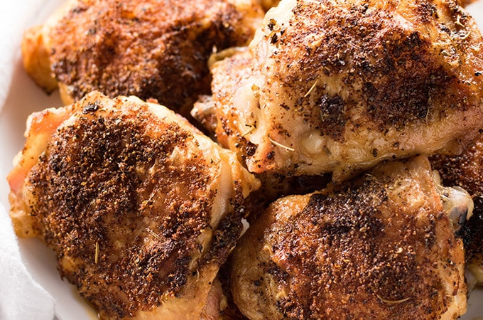 How Long Do You Bake Chicken Thighs  Crispy Baked Chicken Thighs The Salty Marshmallow
