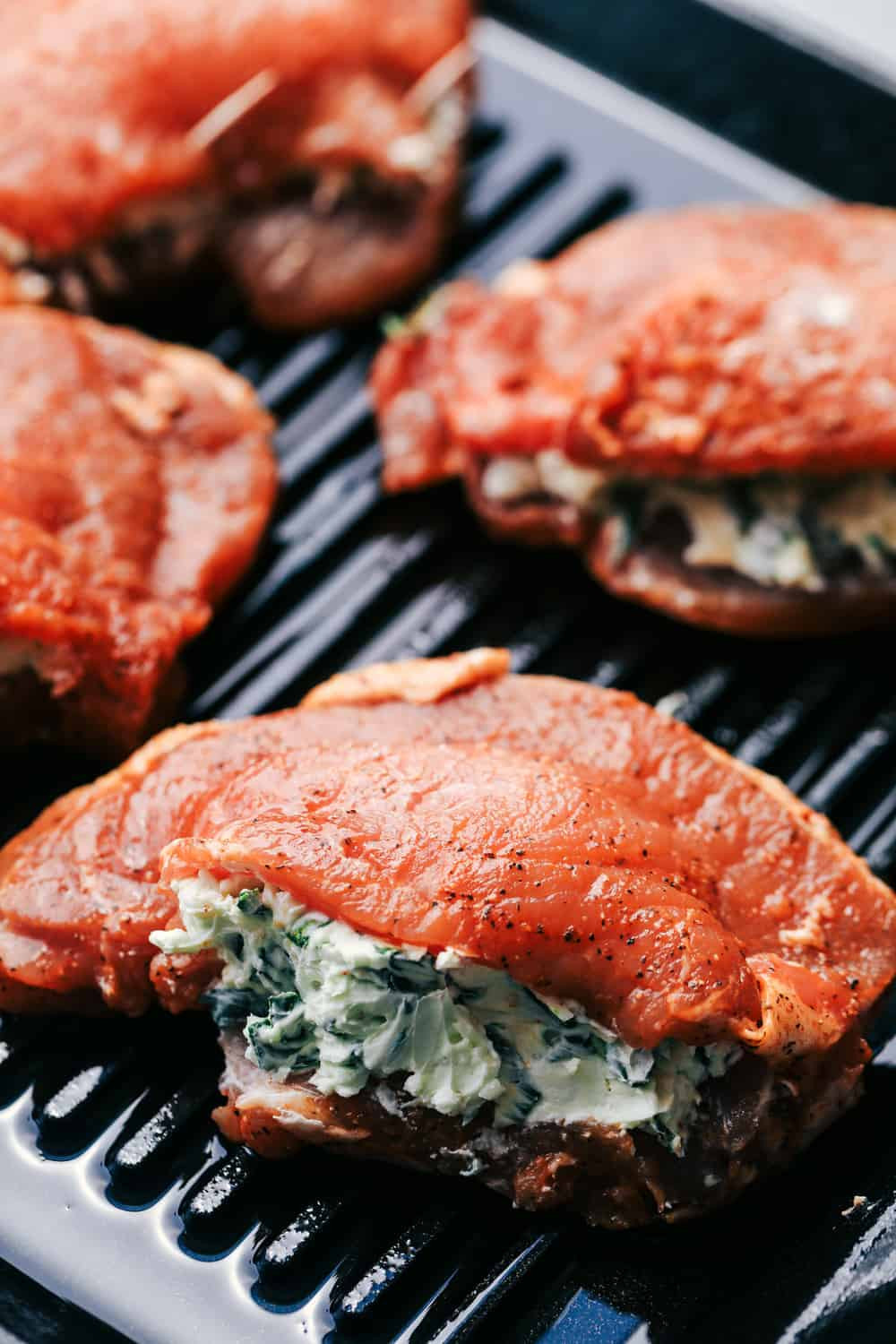 How Long Do You Fry Pork Chops  Grilled Spinach and Herb Stuffed Pork Chops