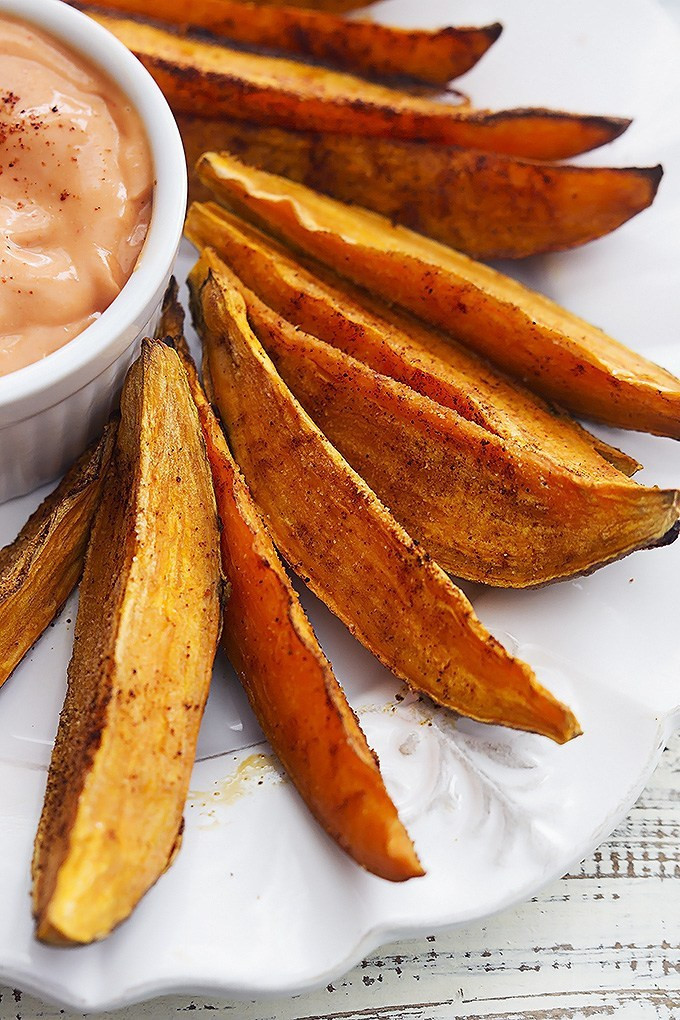 How Long Does It Take To Microwave A Potato  Extra Crispy Baked Sweet Potato Fries Layers Happiness