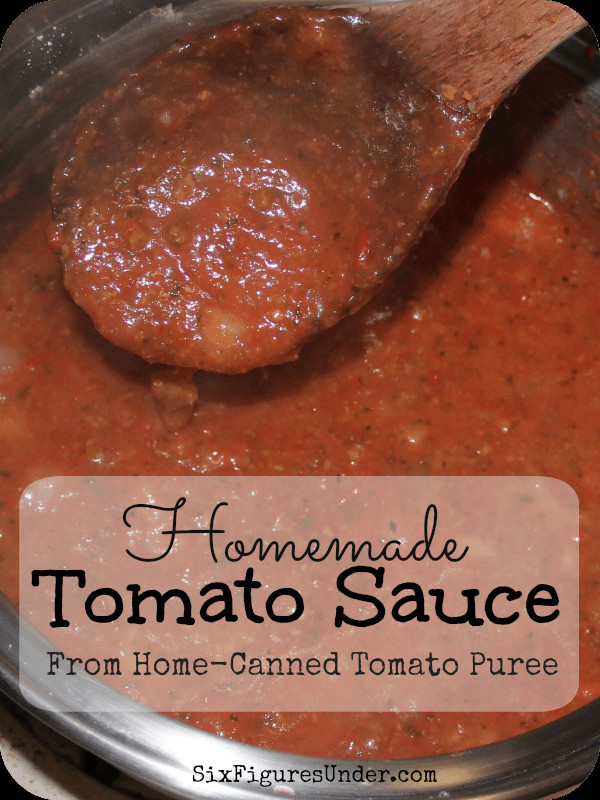 How Long Does Tomato Sauce Last In The Fridge  Homemade Tomato Sauce from Tomato Puree Six Figures Under