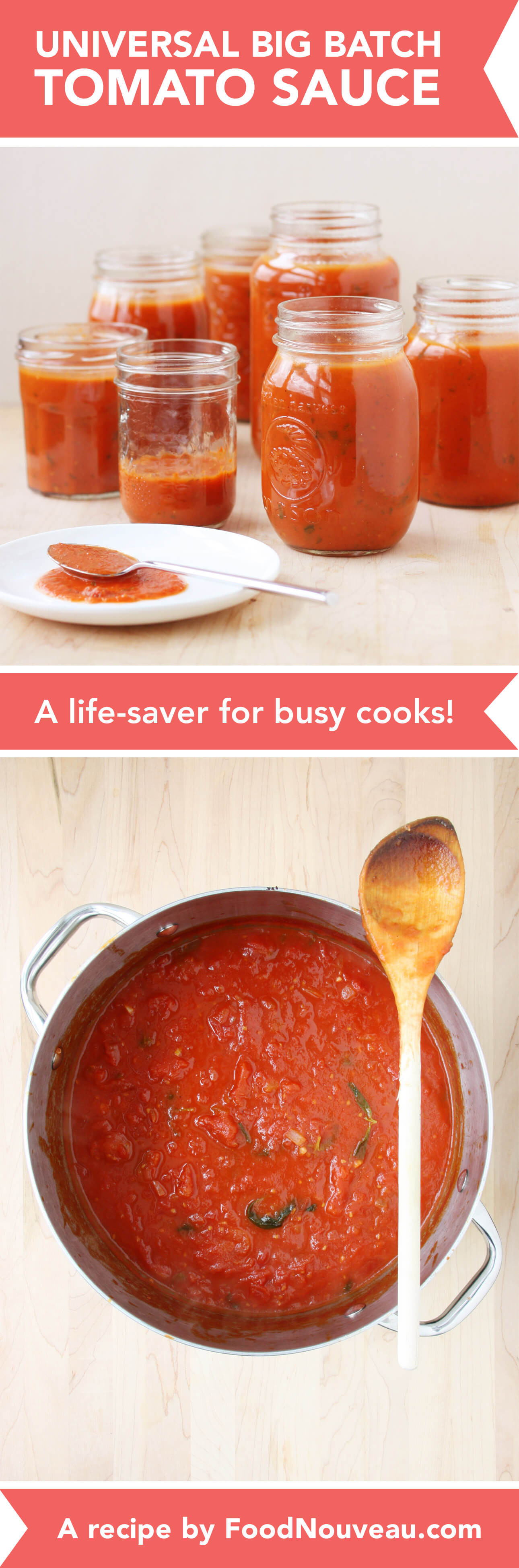 How Long Does Tomato Sauce Last In The Fridge  Universal Big Batch Tomato Sauce Food Nouveau