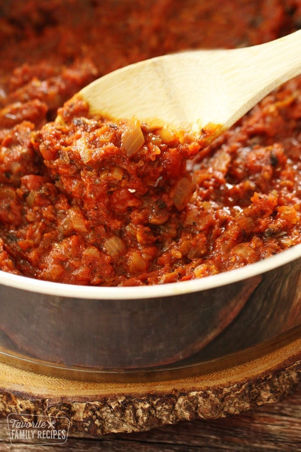 How Long Does Tomato Sauce Last In The Fridge  Homemade Spaghetti Sauce with Fresh Tomatoes
