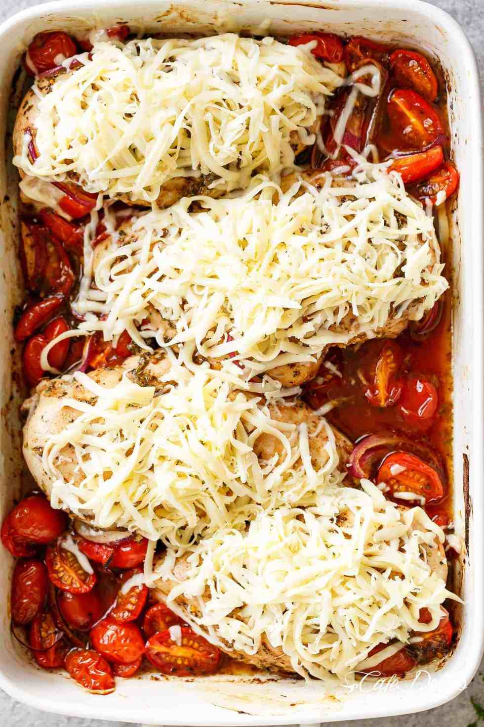 How Long To Bake Chicken Breasts  Balsamic Baked Chicken Breast With Mozzarella Cheese