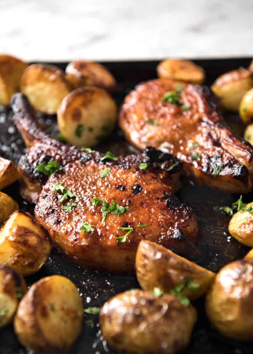 How Long To Bake Pork Chops  Oven Baked Pork Chops with Potatoes
