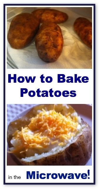 How Long To Boil A Potato  How to Bake Potatoes in the Microwave Recipe