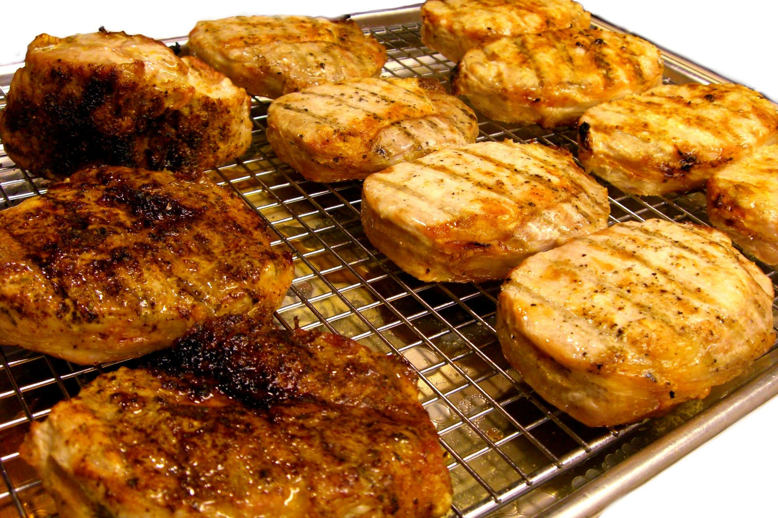 How Long To Broil Pork Chops  Domesticity Nouveau Basic Broiled Pork Chops