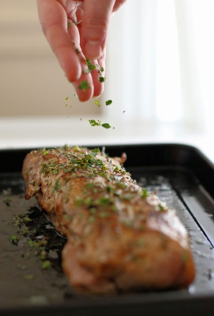 How Long To Cook A Pork Tenderloin  Recipe Greek Style Pork Loin With Lemon Roasted Potatoes
