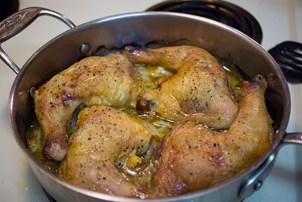 How Long To Cook Chicken Legs In Oven At 425  Baked Chicken Leg Quarters with Braised ions a one dish