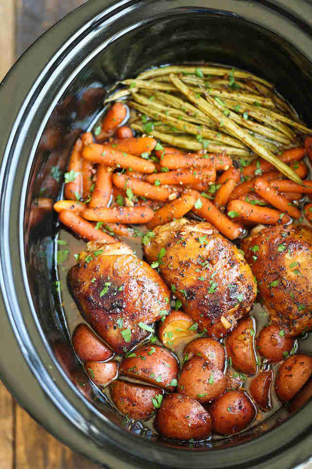 How Long To Cook Chicken Thighs In Crock Pot  The 13 Best Slow Cooker Chicken Recipes Thrillist