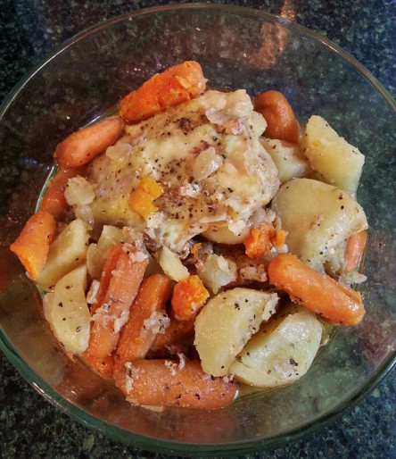 How Long To Cook Chicken Thighs In Crock Pot  Crockpot Magic Chicken Thighs and Root Veggies