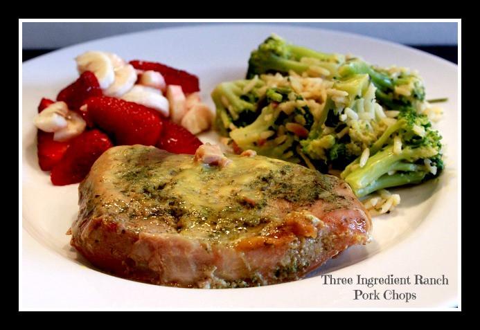 How Long To Cook Pork Chops In Crock Pot  Three Ingre nt Ranch Pork Chops