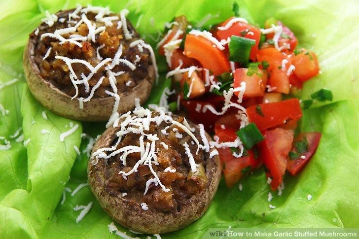 How Long To Cook Stuffed Mushrooms  How to Make Garlic Stuffed Mushrooms with wikiHow