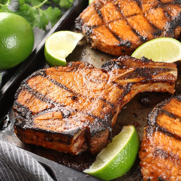 How Long To Grill Bone In Pork Chops  Maple Sriracha Grilled Bone In Pork Chops