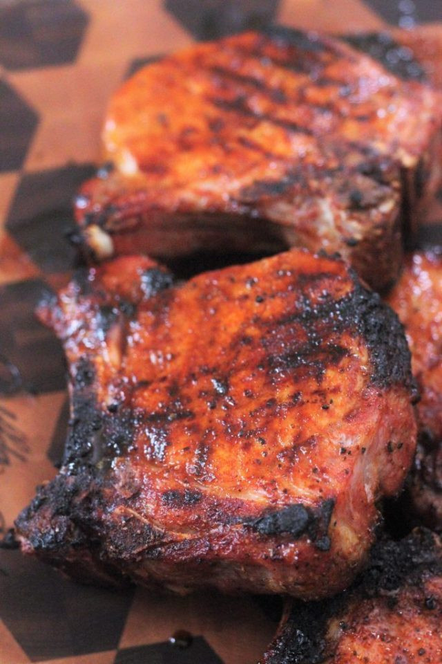 How Long To Grill Bone In Pork Chops  Simple Grilled Pork Chops with Homemade BBQ Rub