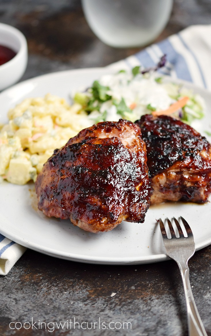 How Long To Grill Boneless Chicken Thighs  Barbecue Chicken Thighs Cooking With Curls