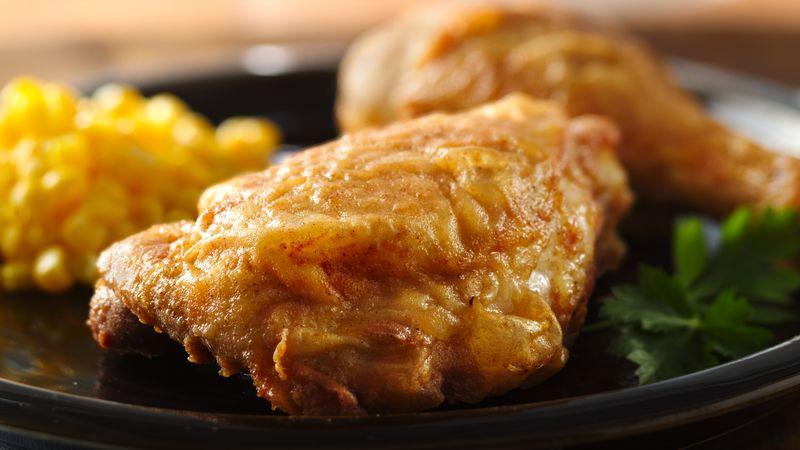 How Long To Pan Fry Chicken Thighs  Skillet Fried Chicken Recipe BettyCrocker