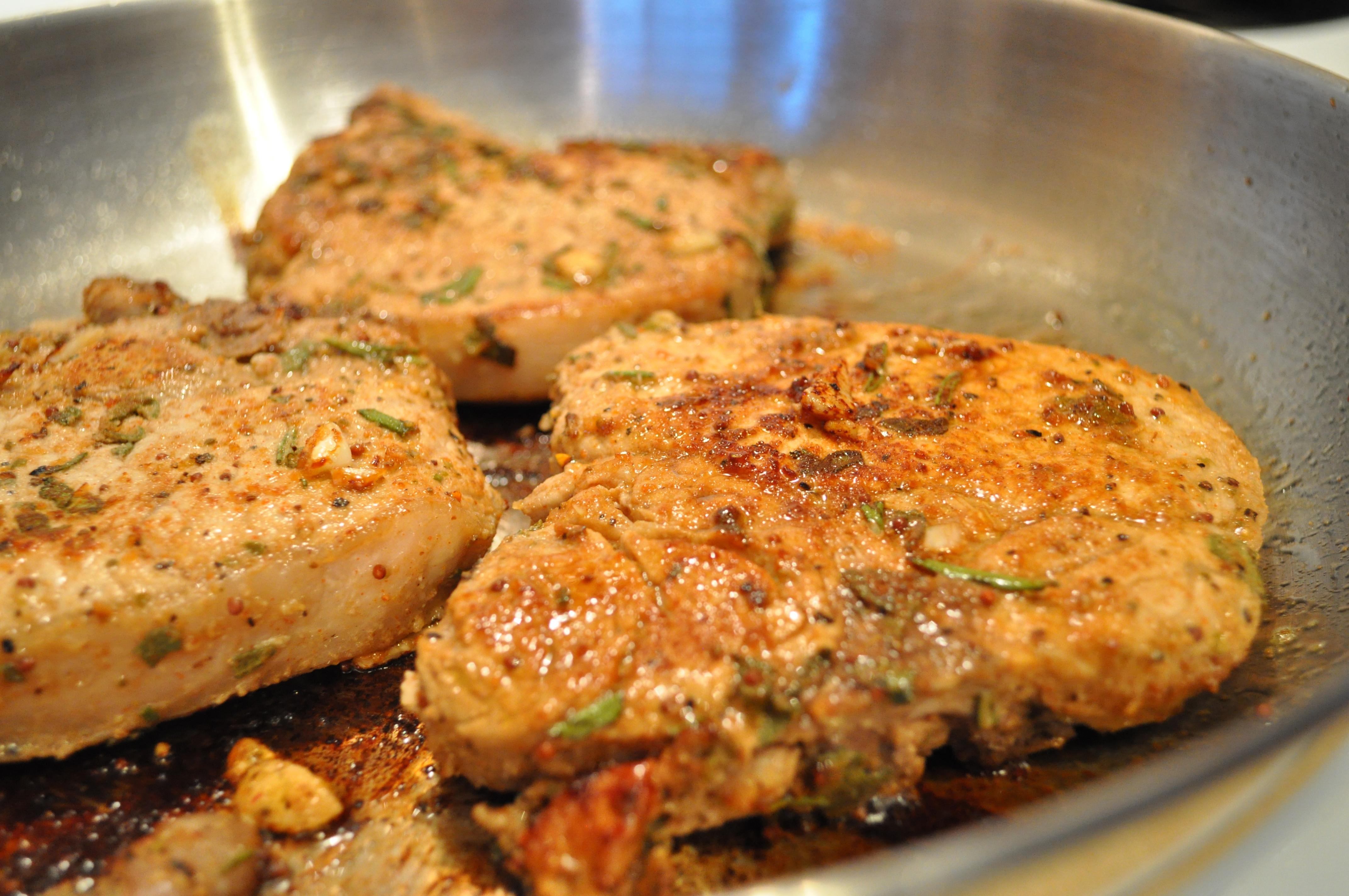 How Long To Pan Fry Pork Chops  Pan Fried Pork Chops & Roasted Ve ables – gluten free zen