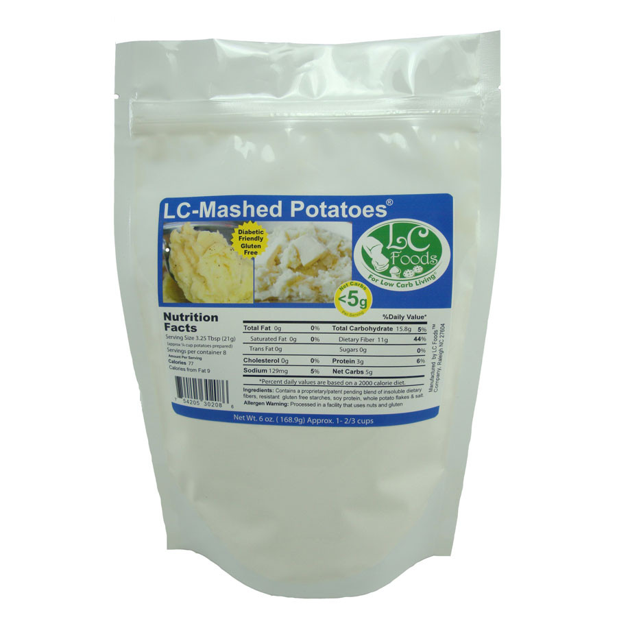 How Many Carbs In A Potato  Low Carb Mashed Potato Mix