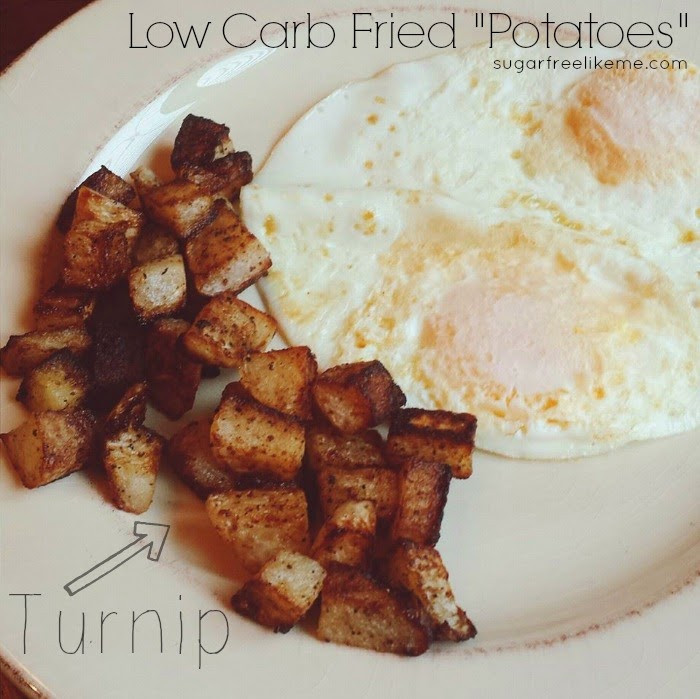 "How Many Carbs In A Potato  Sugar Free Like Me Low Carb Fried Turnip ""Potatoes"""