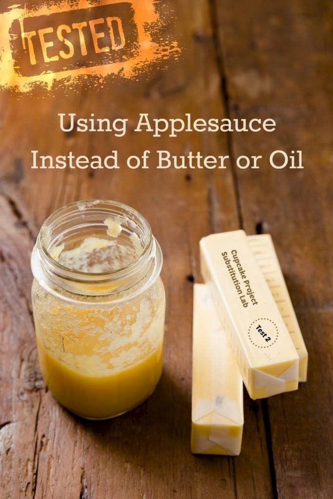 How Much Applesauce To Replace Oil  Using Applesauce as a Butter or Oil Substitute Cupcake