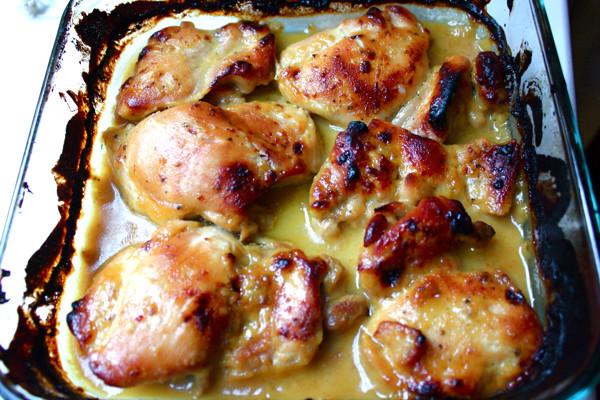 How To Bake Boneless Chicken Thighs  Man Pleasing Chicken