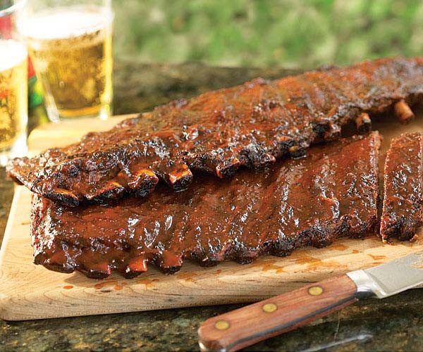 How To Bbq Pork Ribs  Apple Bacon Barbecued Ribs Gas Grill Version Recipe