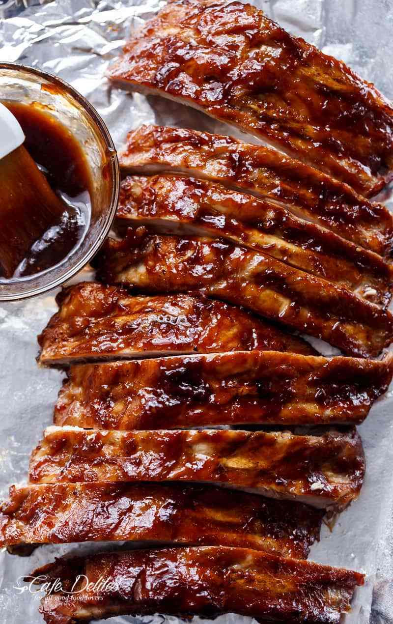 How To Bbq Pork Ribs  Slow Cooker Barbecue Spare Ribs Cafe Delites
