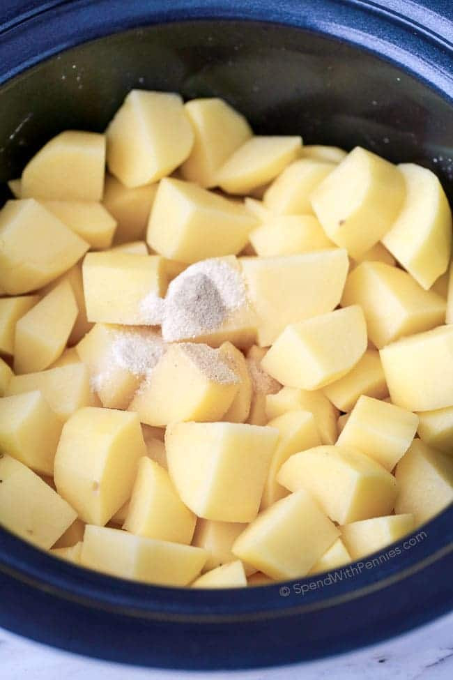 How To Boil Potatoes For Mashed Potatoes  No Boil Slow Cooker Mashed Potatoes Spend With Pennies