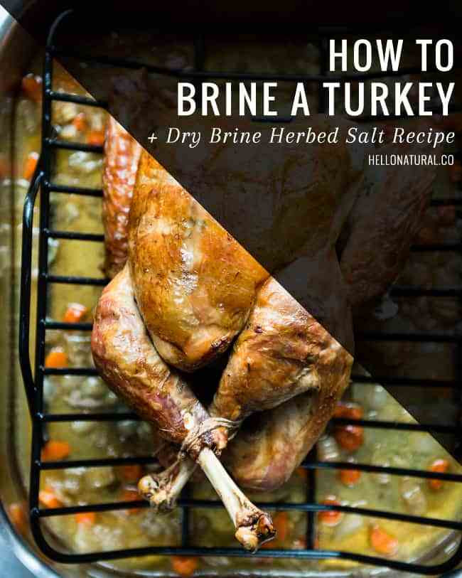 How To Brine A Turkey For Thanksgiving  How To Brine a Turkey Dry Brine Herbed Salt Recipe