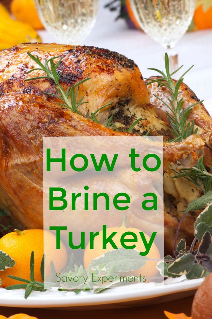 How To Brine A Turkey For Thanksgiving  How to Brine a Turkey a step by step guide for bringing