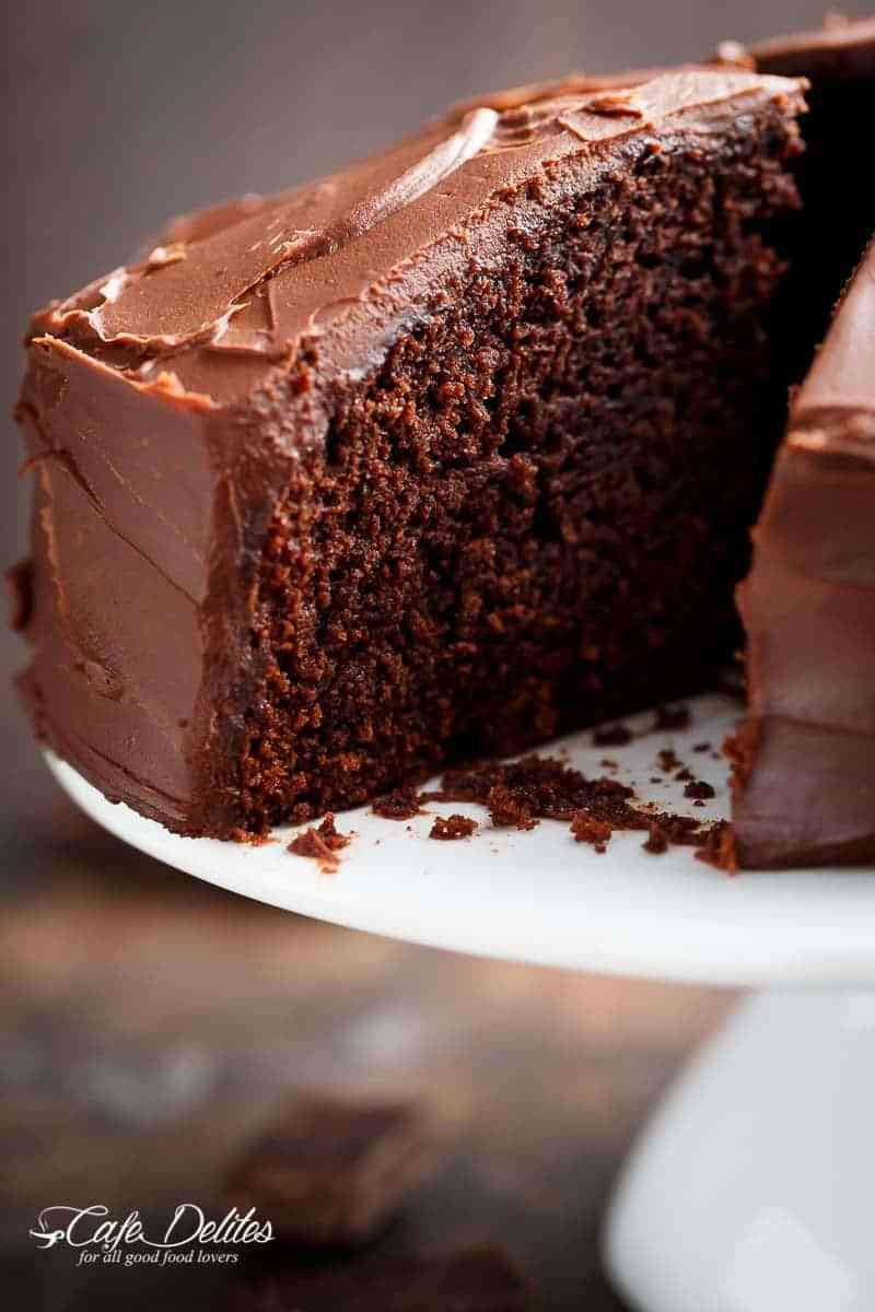 How To Cake It Chocolate Cake  Best Fudgy Chocolate Cake Cafe Delites