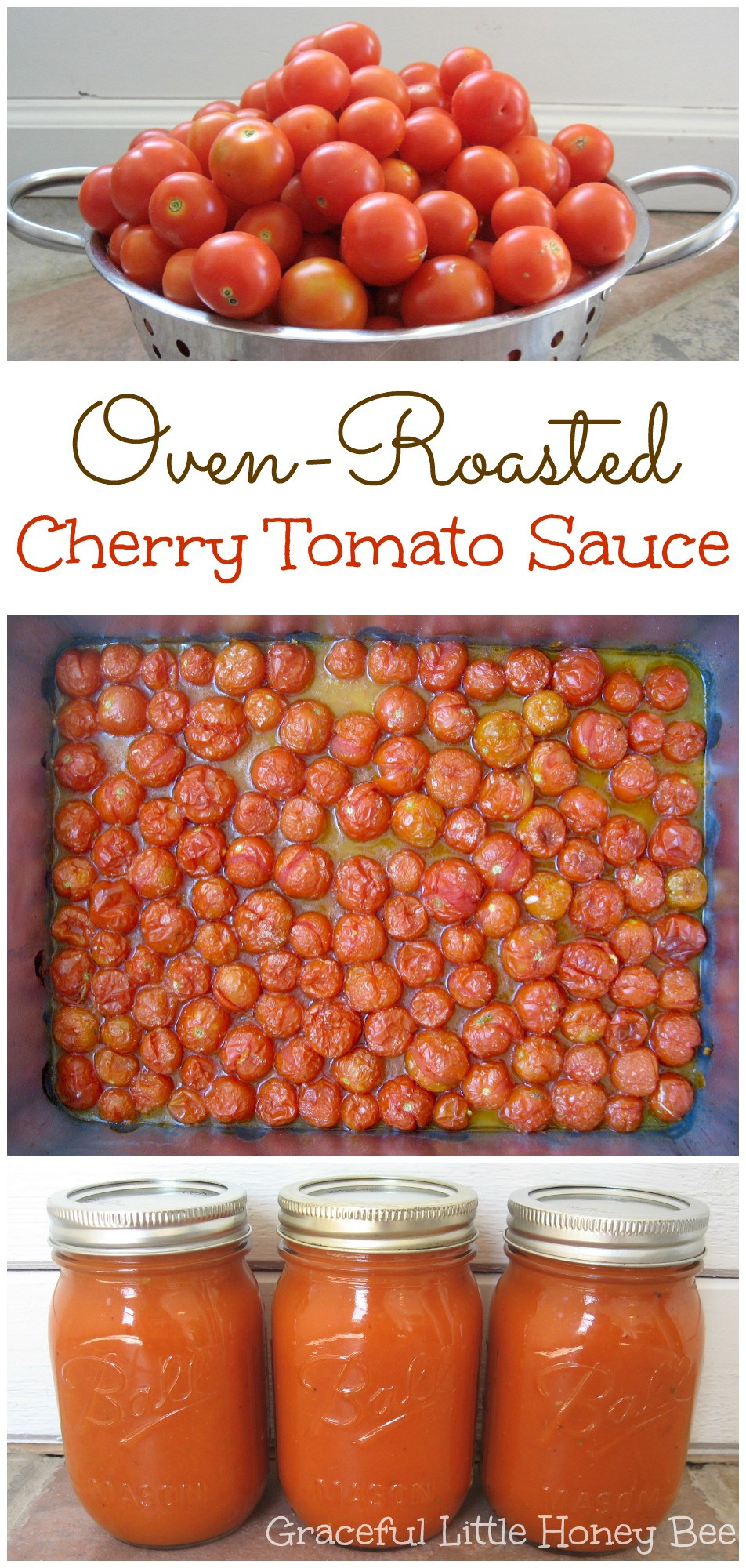 How To Can Tomato Sauce  Oven Roasted Cherry Tomato Sauce Freezer Friendly