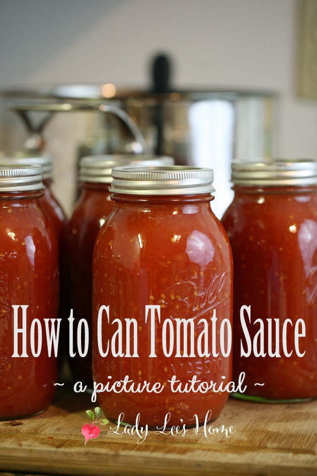 How To Can Tomato Sauce  How to Can Tomato Sauce Lady Lee s Home