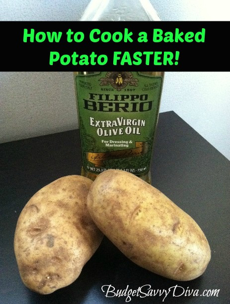 How To Cook A Baked Potato  How to Cook a Baked Potato Faster