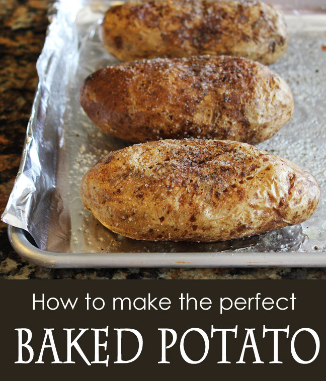 How To Cook A Baked Potato  How to Make the Perfect BAKED POTATO