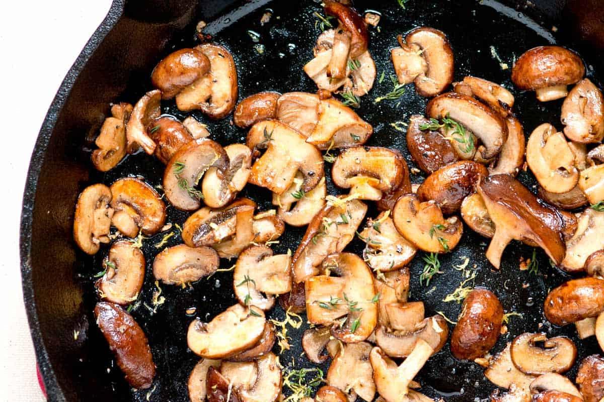 How To Cook Baby Bella Mushrooms  Sauteed Mushrooms and Truffle Salt Crostini