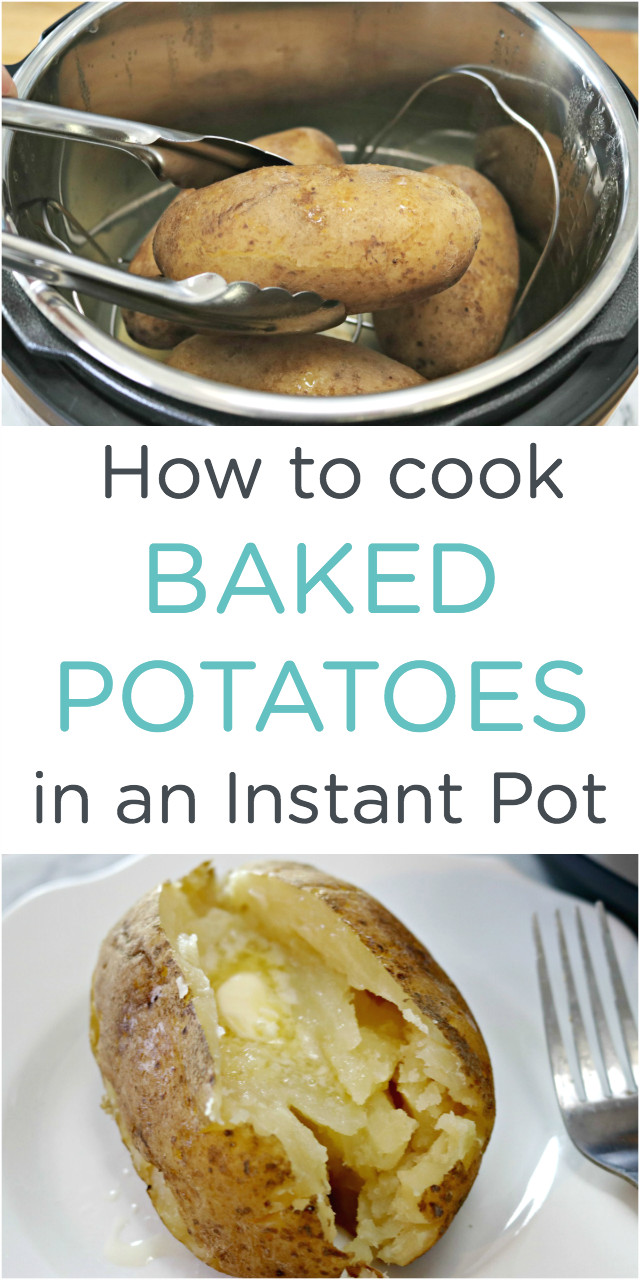 How To Cook Baked Potato In Microwave  How to Cook Easy Instant Pot Baked Potatoes