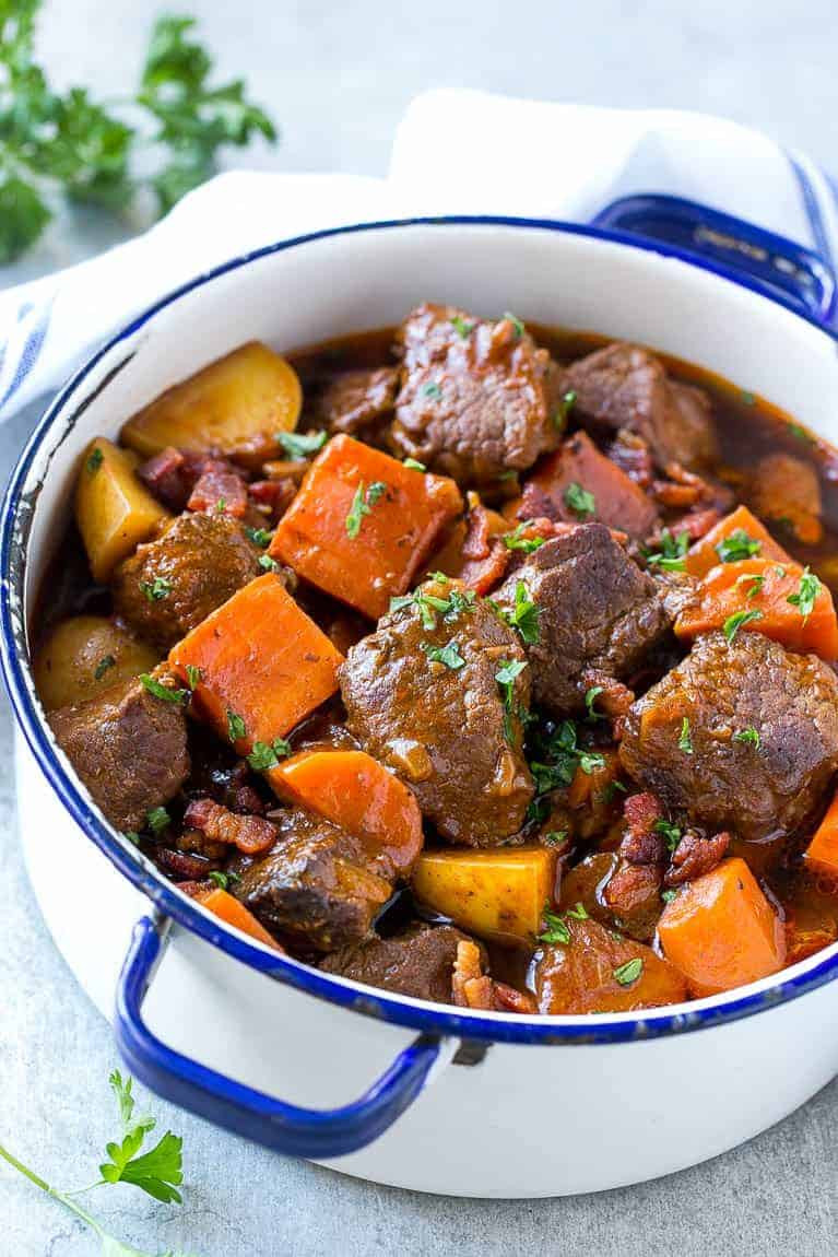 How To Cook Beef Stew  Beef Stew with Bacon