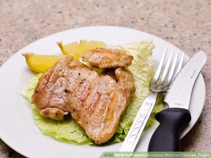 How To Cook Boneless Skinless Chicken Thighs  4 Ways to Prepare Boneless Skinless Chicken Thighs wikiHow